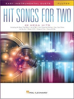 Hit Songs For Two Flutes - Duet book