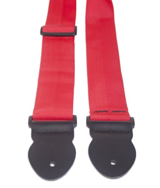 "LG 2"" X-Long Red Webbing Guitar Strap"