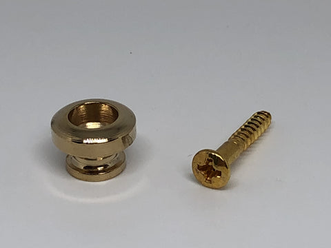 Gold guitar end pin - single