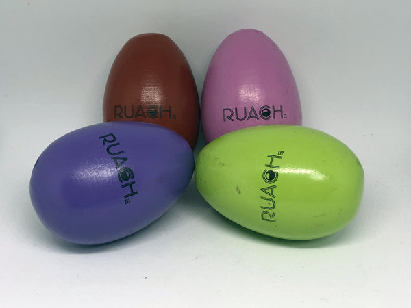 Ruach Wooden Single Egg Shaker - Assorted  Colours