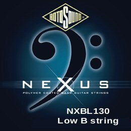 Rotosound Nexus (NXBL130) Single 130 black coated bass string