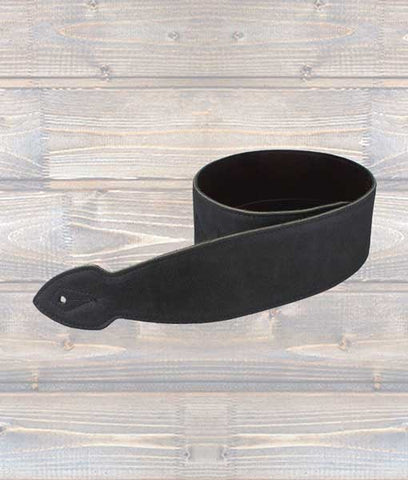 "LG 2.5"" X-Long Softy Black Leather Guitar Strap"