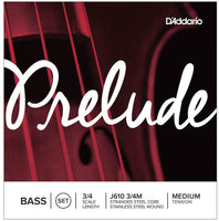 D'Addario Prelude 3/4 Scale Medium Tension Bass String Set