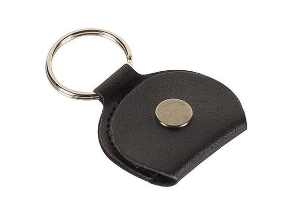 Rotosound black leather key ring plectrum holder