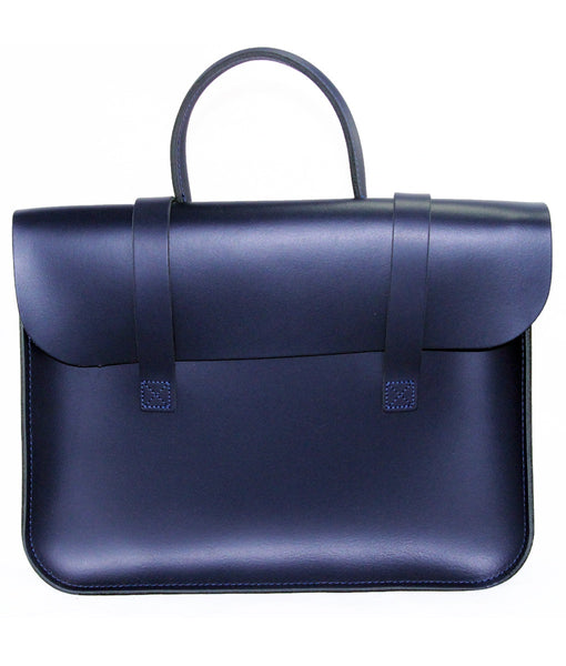 LG Navy leather music case