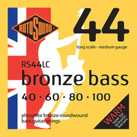 Rotosound (RS44LC) Phosphor Bronze 40-100 Acoustic Bass String Set