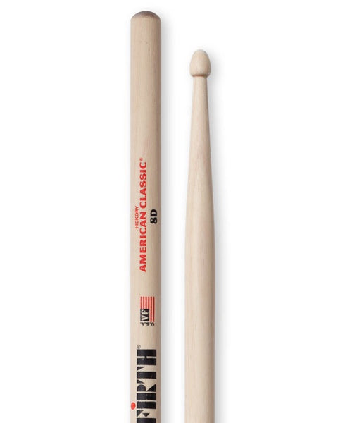 Vic Firth 8D Wooden Drumsticks - Hickory