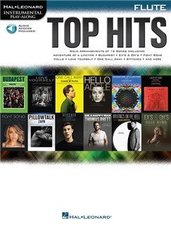 Hal Leonard Instrumental Play-Along: Top Hits - Flute (Book/Online Audio)