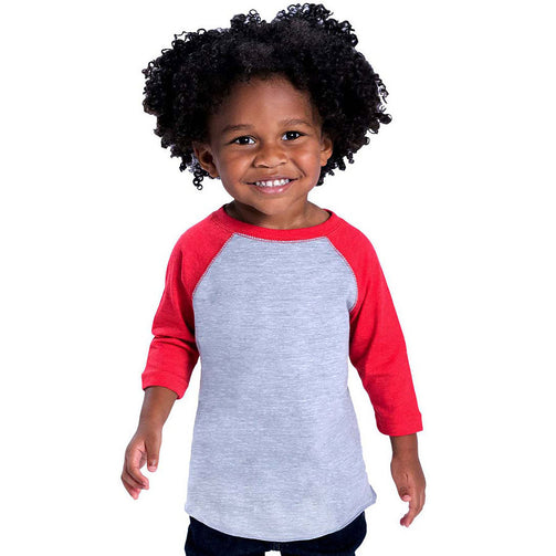 Rabbit Skin Toddler Baseball Raglan Tee - Kraftyville