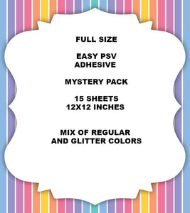 NEW Siser Easy PSV ( ADHESIVE  COMPAIRED TO 651 ORACAL) Mystery Box 12X12 OR 6X6 SIZE - Kraftyville