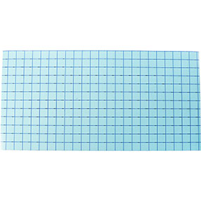 "Blue Grid - Clear Medium Tack Transfer Tape with Release Liner - 12"" x 1,2,5,10,25,50,75 Feet - Kraftyville"