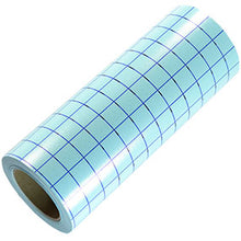 "Load image into Gallery viewer, Blue Grid - Clear Medium Tack Transfer Tape with Release Liner - 12"" x 1,2,5,10,25,50,75 Feet - Kraftyville"
