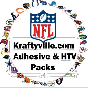 NFL Football  Color Kits  ORACAL 651  12X12 SHEETS - Kraftyville