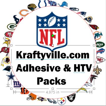 NFL Football  Color Kits  ORACAL 651  12X12 SHEETS