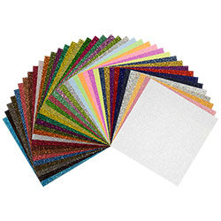 "Siser GLITTER - All Colors Pack -   12""x6"" or 12""x20"" Sheets - Kraftyville"
