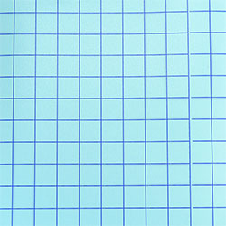 "Blue Grid - Clear Medium Tack Transfer Tape with Release Liner - 12"" x 1,2,5,10,25,50,75 Feet"