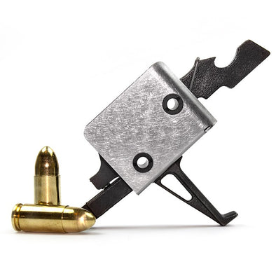 CMC AR-15 / AR-10 9mm PCC Single Stage Drop-in Trigger – Flat Bow - 3.5lb Pull