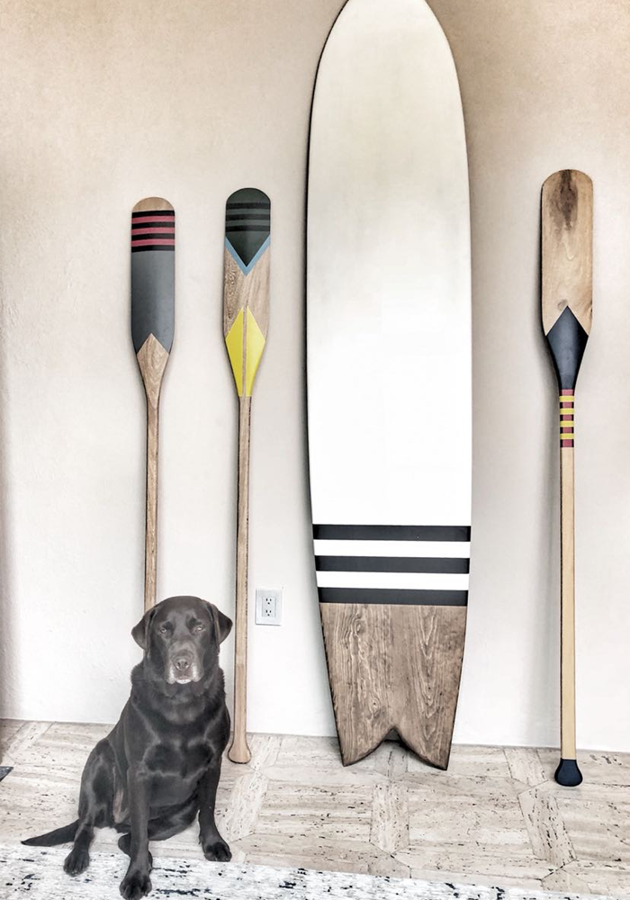 Remo decorativo de madera / Wooden rowing