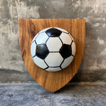 Trofeo de soccer de resina y madera / Resin and wood trophy