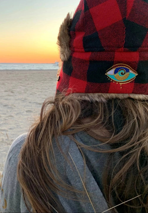 BUFFALO PLAID SEANOE TRAPPER HAT
