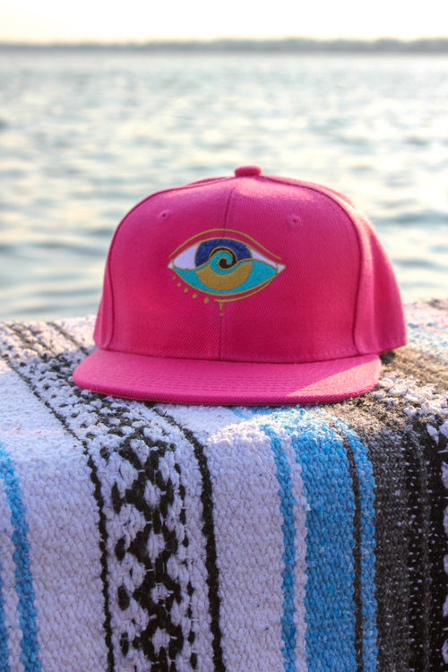 kids pink embroidered SEANOE snapback hat