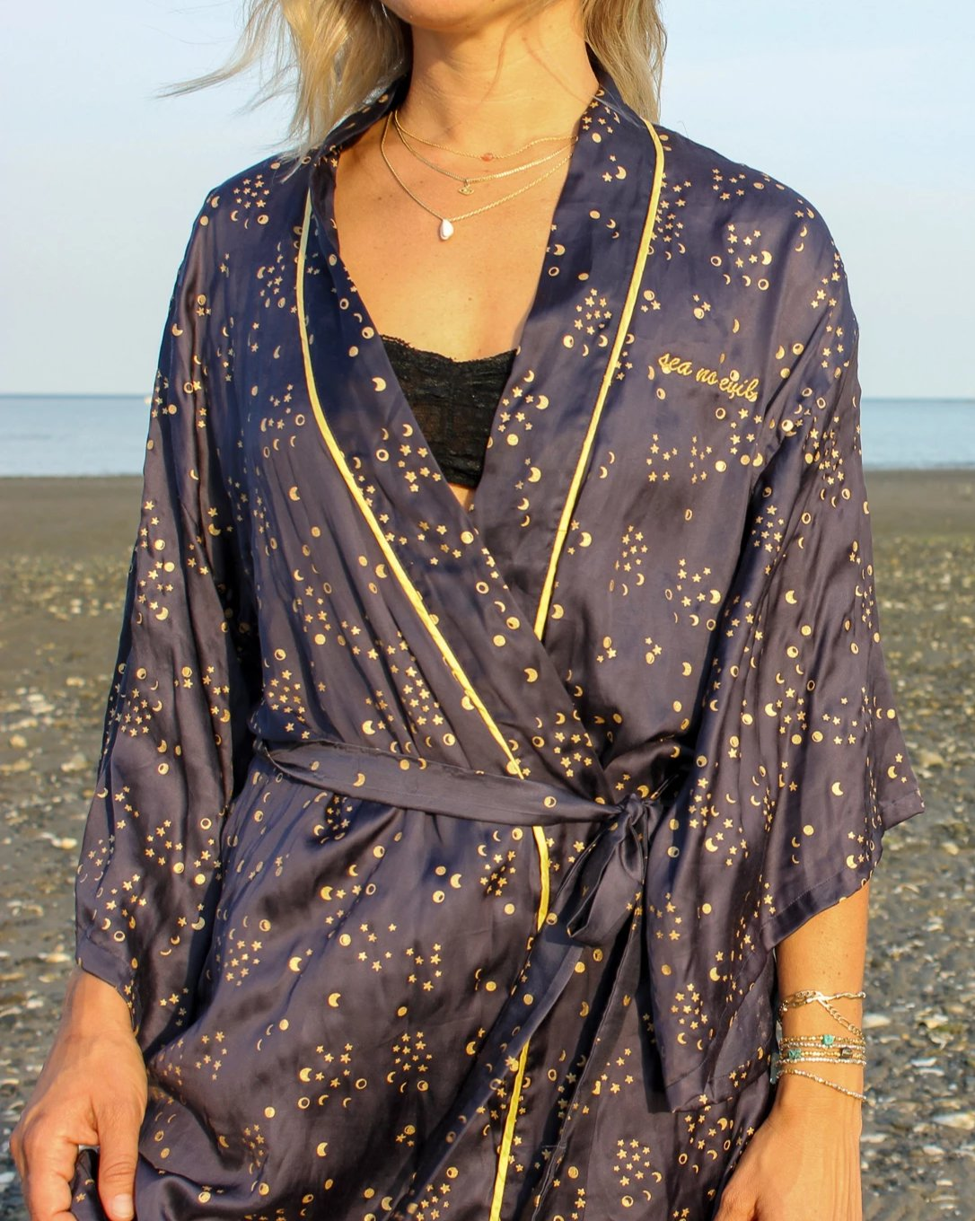 MOON PHASE KIMONO ROBE AND EYE MASK
