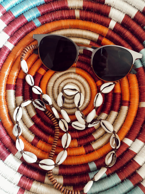lt brown cowrie strap