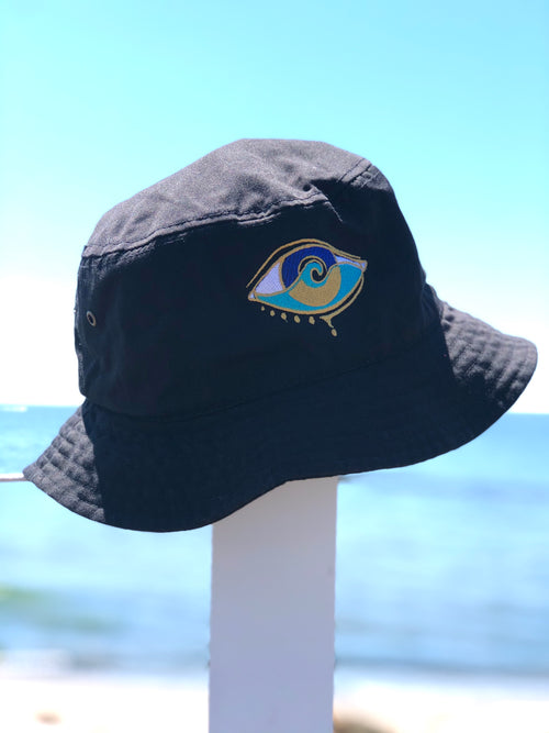 BLACK SEANOE BUCKET HAT