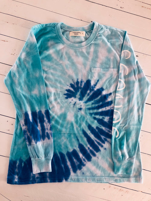 TIE DYE LONG SLEEVE LOGO T