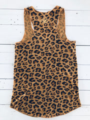EMBROIDERED LEOPARD TANK
