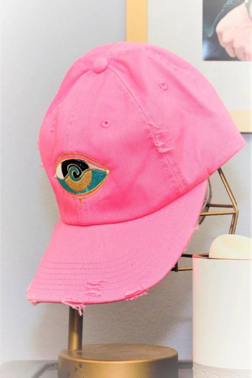 PINK EMBROIDERED SEANOE DAD HAT