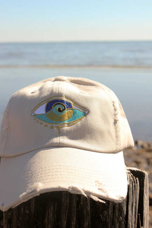 stone embroidered SEANOE dad hat