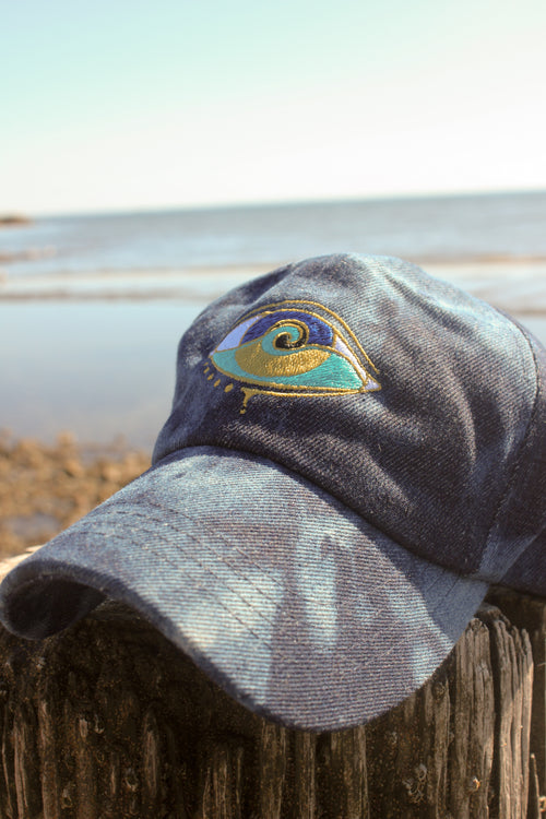 DENIM SPLASH DAD HAT