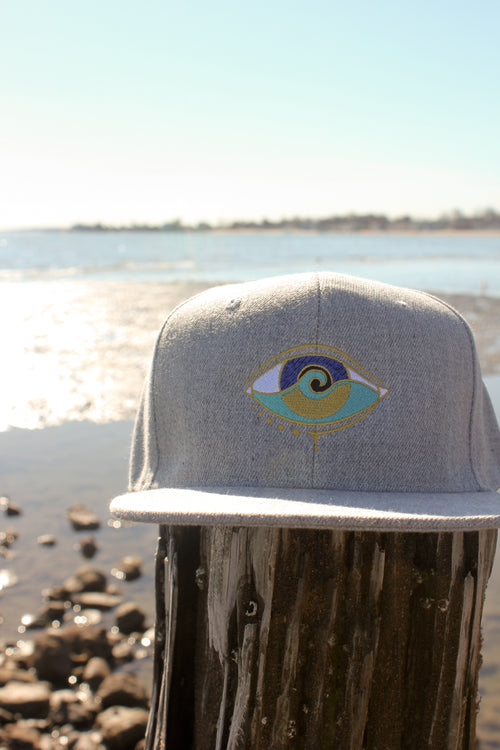 LIGHT GREY DENIM SEANOE SNAPBACK