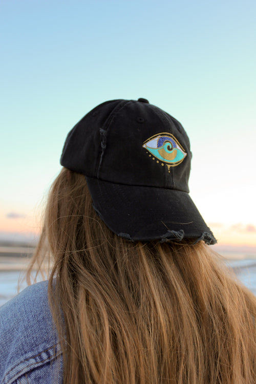 black embroidered SEANOE dad hat