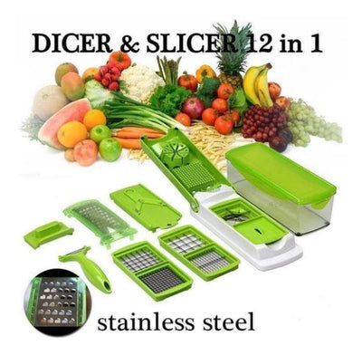 ST Nicer Dicer Plus [12 in 1 Magic Slicer]+FREE SHIPPING