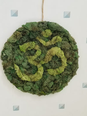 Moss Wall Art Ohm Symbol