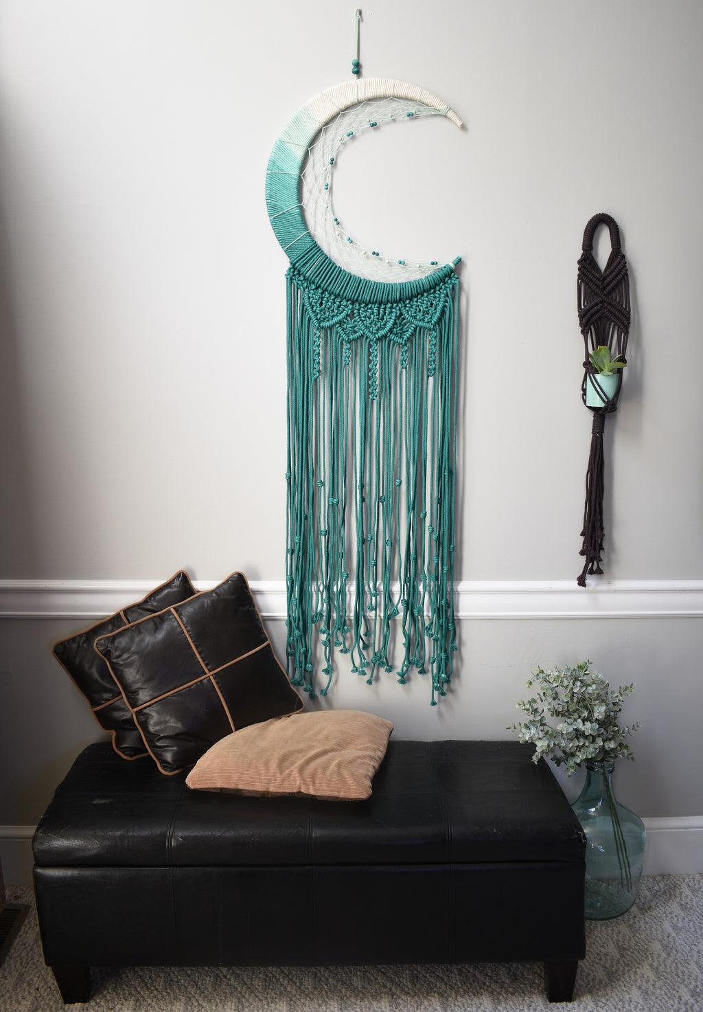 Green Ombre Moon Dreamcatcher