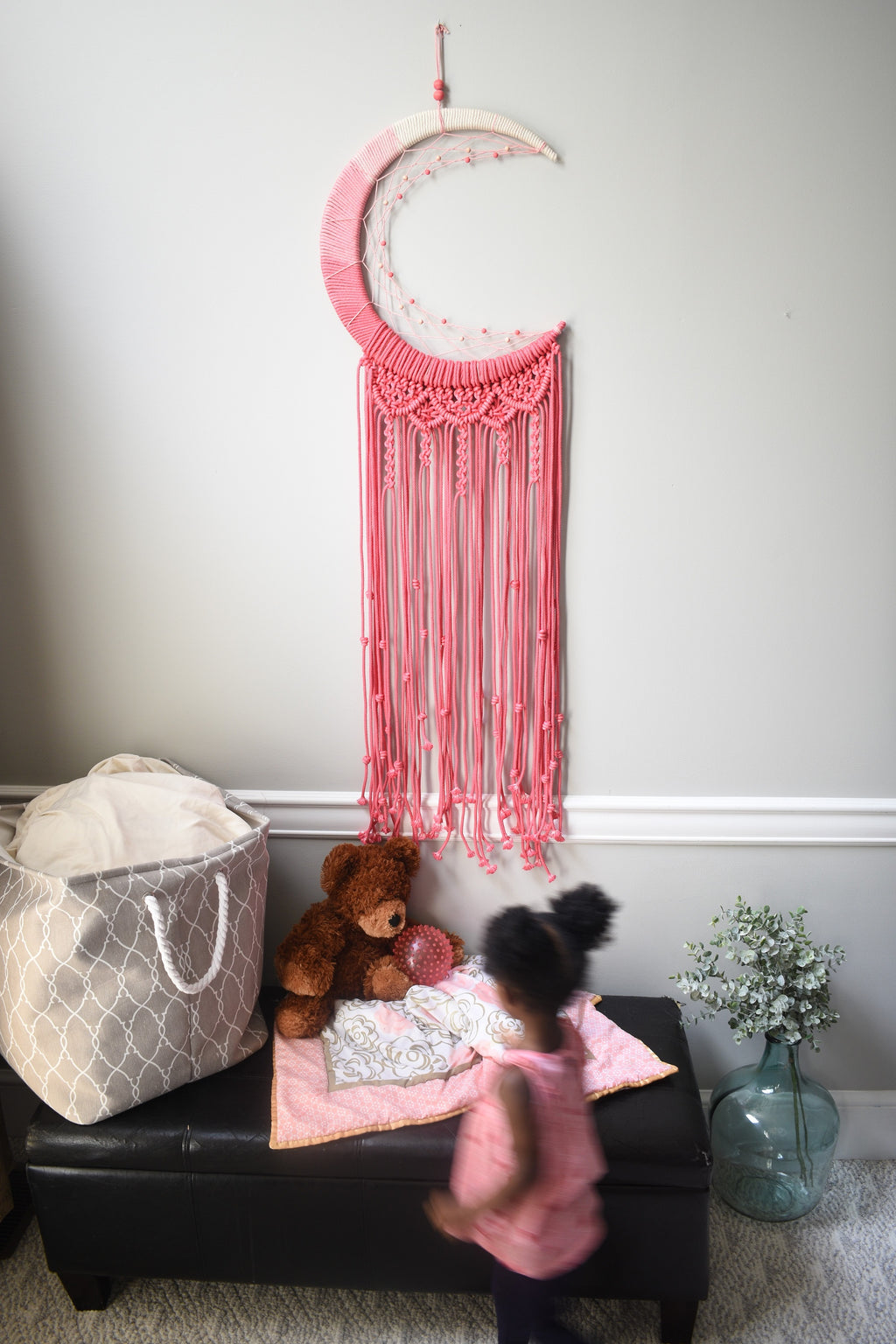 Pink Ombre Moon Dreamcatcher