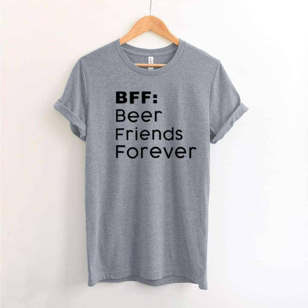 BFF Beer Friends Forever - Premium Unisex T-Shirt / Athletic Heather / XS - Design