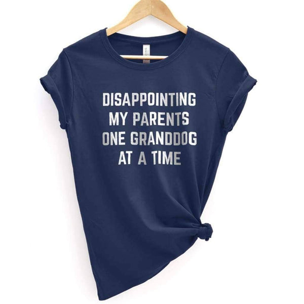 Disappointing My Parents Tee - Premium T-Shirt / Navy / XS - Design