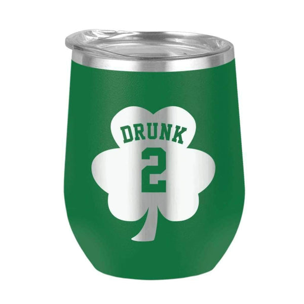 Drunk 2 Wine Tumbler - 12oz Wine Tumbler / Green / 12oz - Design