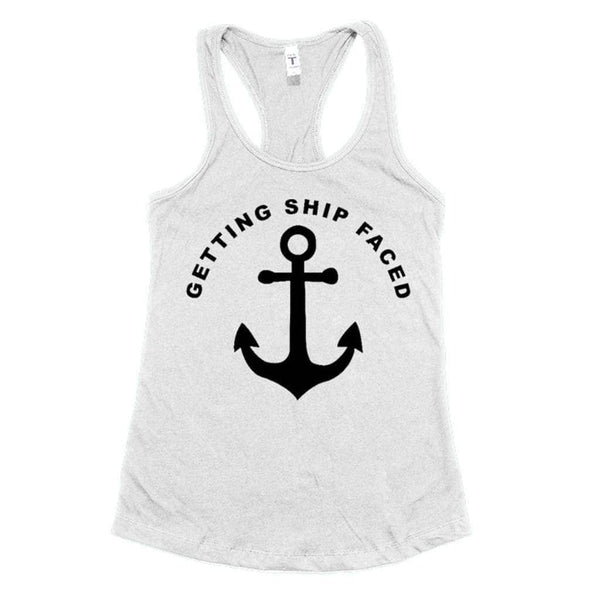 Getting Ship Faced Tank - White / S - Design