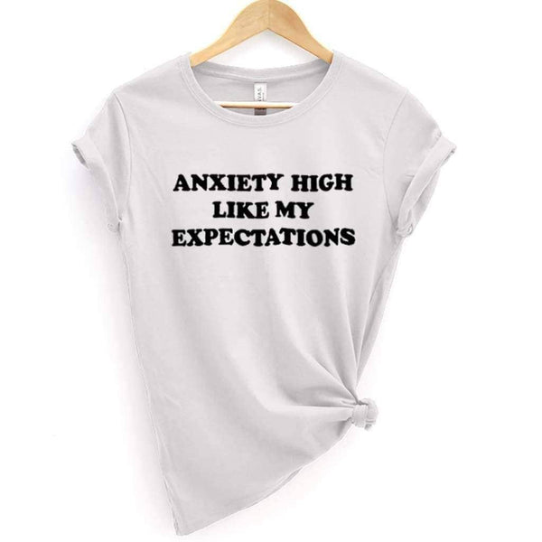 High Anxiety Tee - White / 2XL - Design