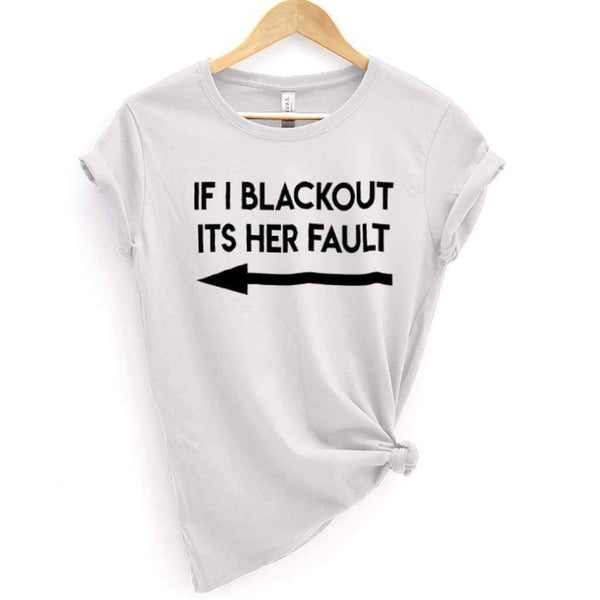 If I Blackout Tee 2 - White / XS - Design