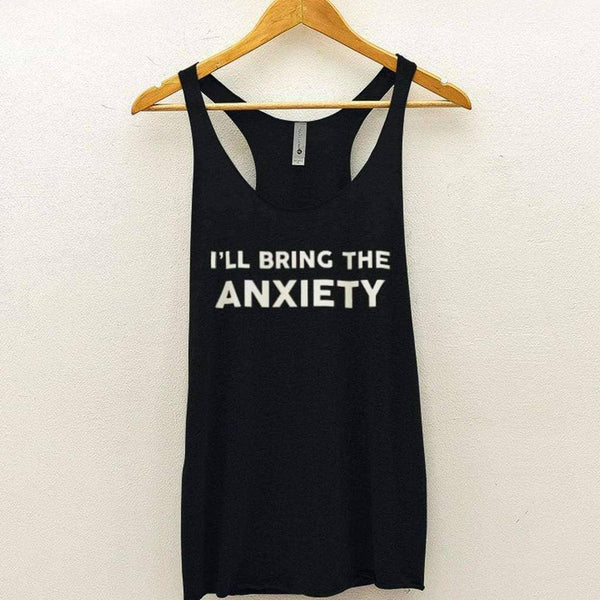 Ill Bring The Anxiety Tank - Vintage Black / XS - Design