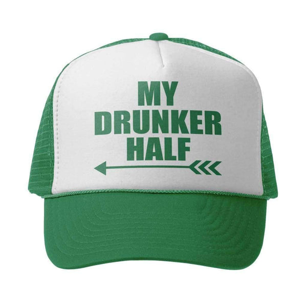 My Drunker Half 2 Hat - White/Kelly - Product