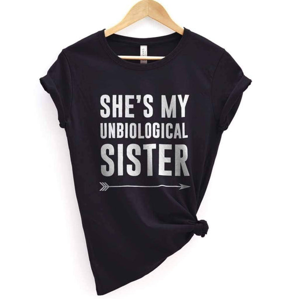 My Unbiological Sister 2 Tee - Premium T-Shirt / Black / XS - Design