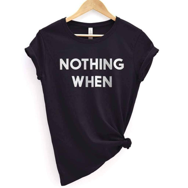 Nothing Makes Sense 1 Tee - Premium T-Shirt / Black / XS - Design