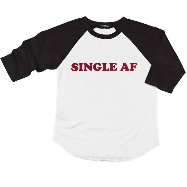 Single AF Raglan - Unisex Raglan T-Shirt / White/ Black / XS - Design